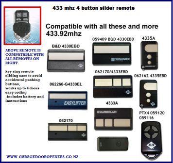 B Amp D Cad 606 Compatable Key Remote Garage Door Openers