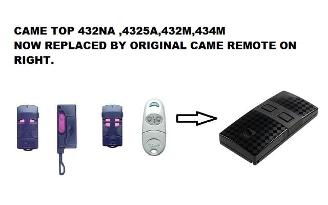 Came 432 Na Remote Control