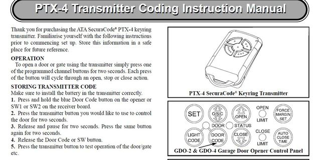 Ata Pxt 5 Compatable Remote Garage Door Openers Remotes