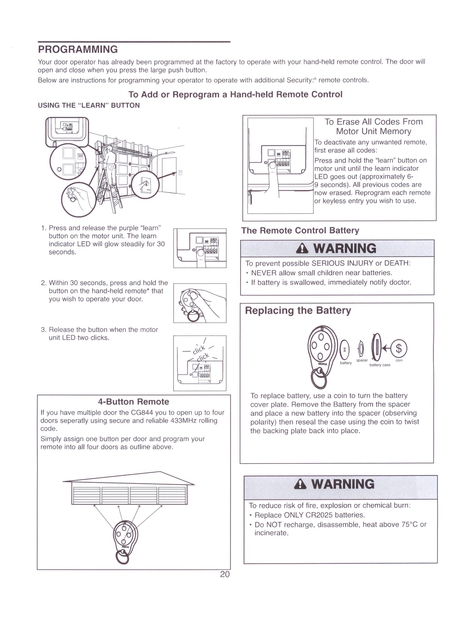 merlin m802 coding instructions